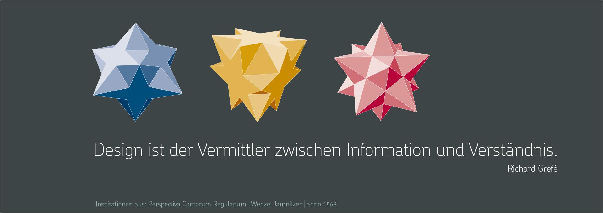 Design ist der Vermittler zwischen Information und Verständnis. Richard Grefé